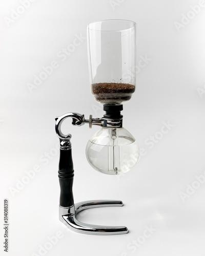 Siphon method coffee on white background Tablou Canvas