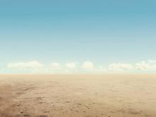 Arid Desert Land With Sky