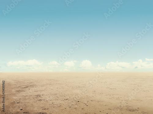 Photographie arid desert land with sky