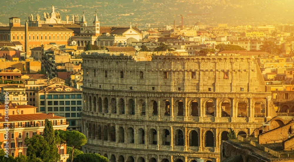 Fototapeta Rome and Colosseum