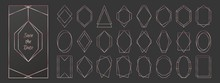 Rose Gold Polygonal Frames Col...