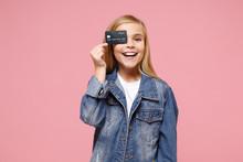 Smiling Little Blonde Kid Girl...