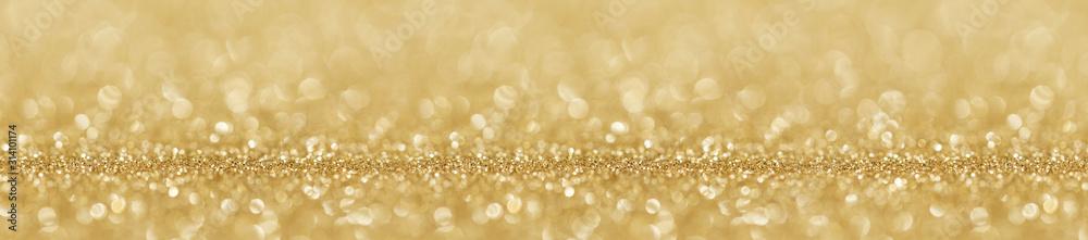 Fototapeta Shiny golden lights background