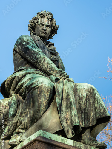 Monument of Ludwig van Beethoven in Vienna Canvas Print
