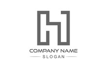 Simple Line Logo Letter H
