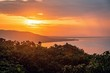 canvas print picture - sunset in bohol on a warm summer day, philippines