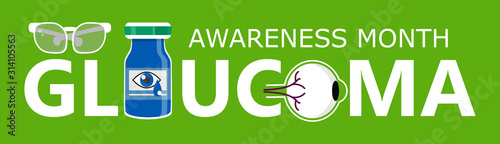 Glaucoma Awareness Month is celebrated in USA in January Fototapet