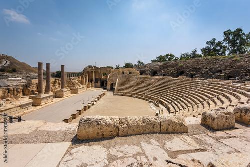Fotografie, Obraz Bet Shean Ruins in Israel