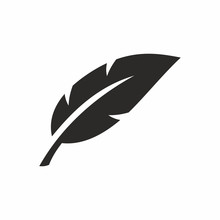 Feather Icon. Vector Icon Isol...