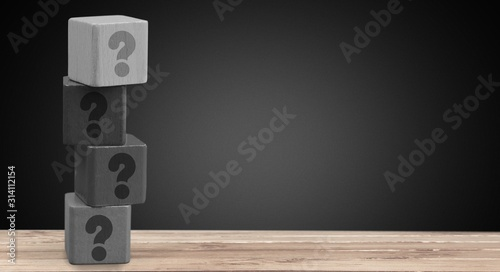 Obraz Question. - fototapety do salonu