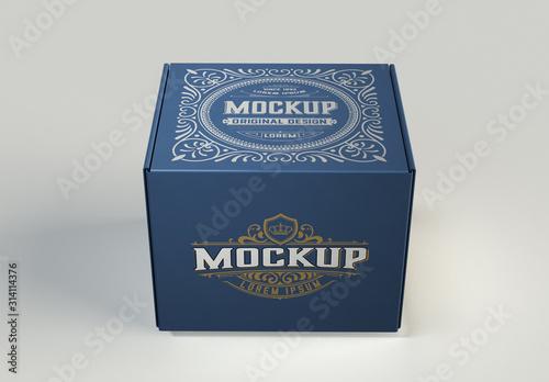 Obraz Colored Box Mockup - fototapety do salonu