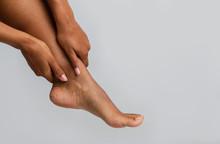 Close Up Of Black Woman Massag...