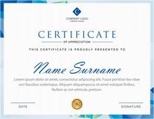Creative Blue Creative Certificate Design