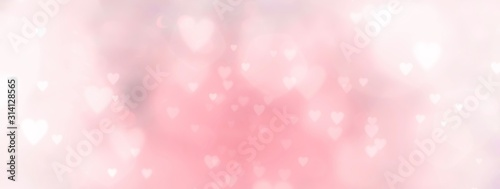 Abstract pastel background with hearts - concept Mother's Day, Valentine's Day, Birthday - spring colors - 314128565