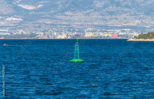 The floating sign of a buoy Canvas Print