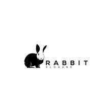 Rabbit Logo Design Black Vecto...