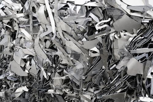Photo Aluminium Schrott aus Blechabfällen