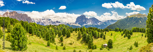 Amazing view from Seceda park Wallpaper Mural