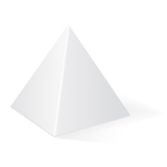 Pyramid. 3d geometric shape