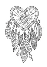 Zentangle Heart Dream Catcher ...
