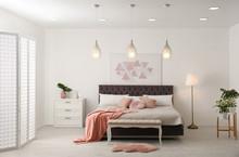 Stylish Room Interior With Lar...