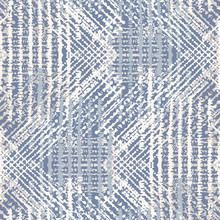 Grey French Linen Vector Texture Seamless Pattern. Brush Stroke Grunge Ornamental Woven Abstract Background. Country Farmhouse Style Textile. Irregular Distressed Marks All Over Print In Gray Blue.
