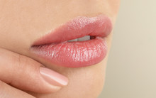 Woman With Beautiful Full Lips...