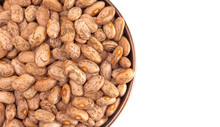 Bowl Of Pinto Beans Isolated O...