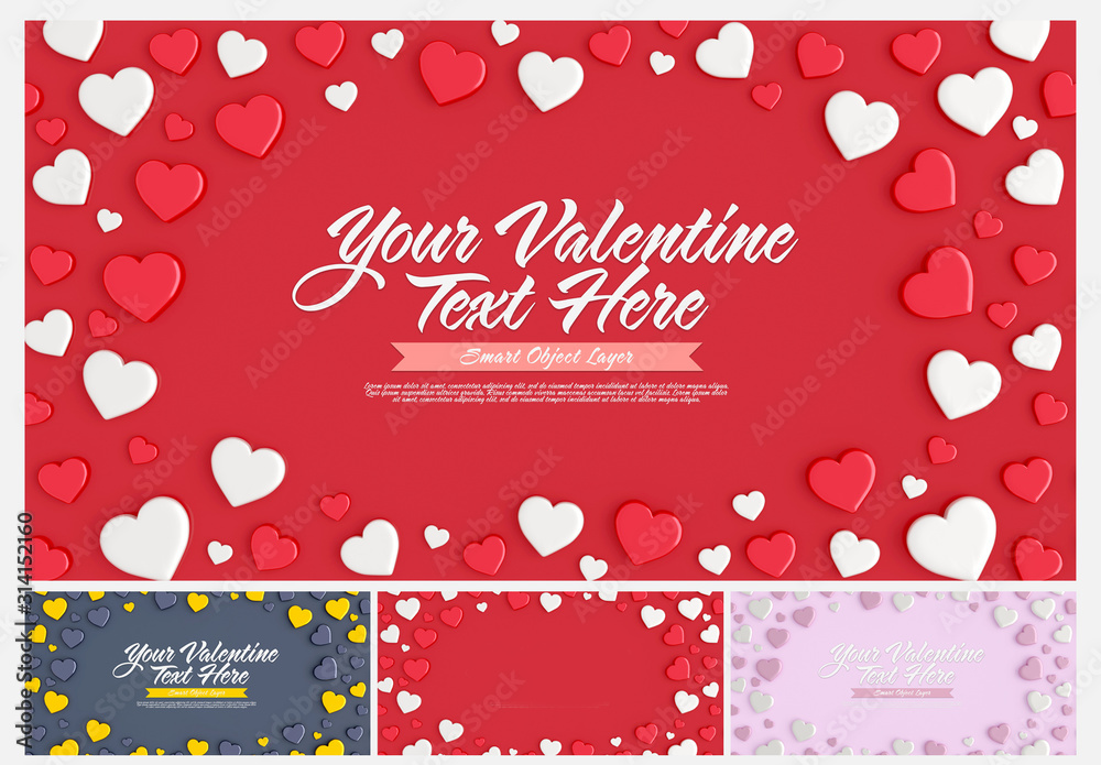 Fototapeta Valentine's Day Card Layout