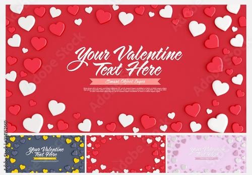 Obraz Valentine's Day Card Layout - fototapety do salonu