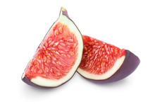 Fresh Fig Slices Fruit Isolate...