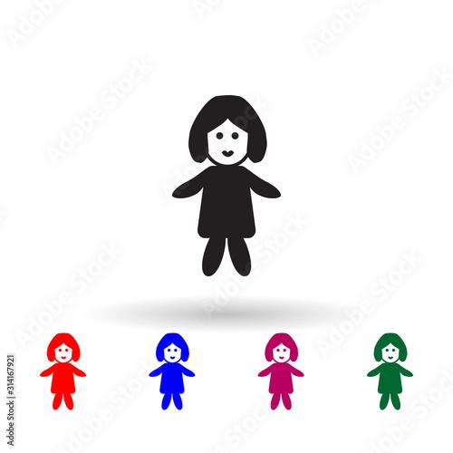 Babyish multi color icon Canvas Print