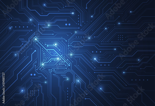 Valokuva Abstract digital background with technology circuit board texture