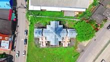 Aerial Of Cultural Historic Landmark Architecture At Mae Sariang, Northern Thailand C