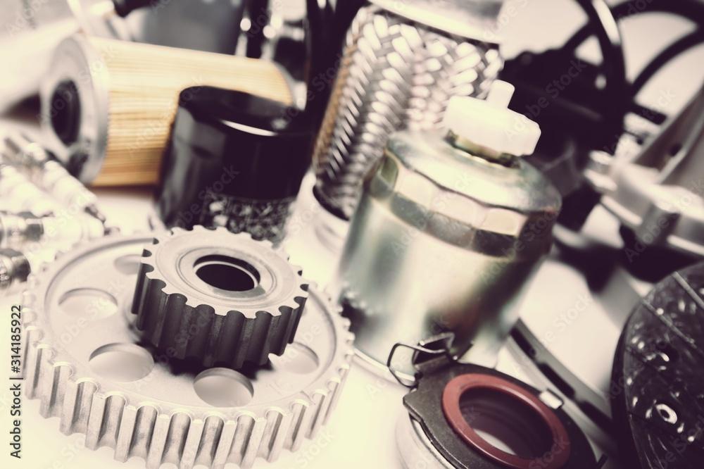 Fototapeta Design car accessories elements on desk