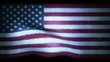 American Flag Waving with Hologram technology style .Digital UNITED STATES flag