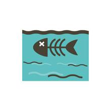 Isolated Dead Fish Inside Sea ...