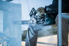 The Sculptor Cuts Ice Contours...