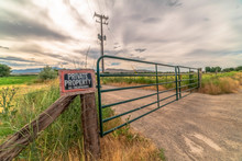 Security Gate And Fence With N...