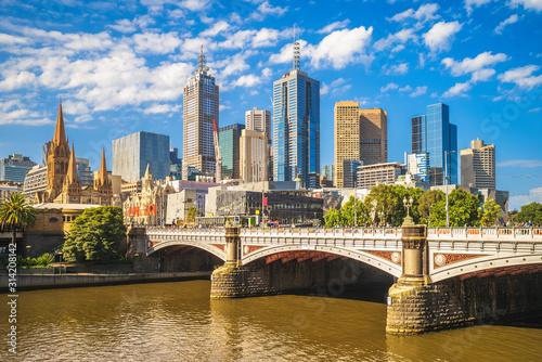 Obraz Melbourne city business district (CBD), Australia - fototapety do salonu