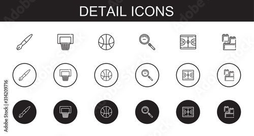 Fototapeta detail icons set obraz