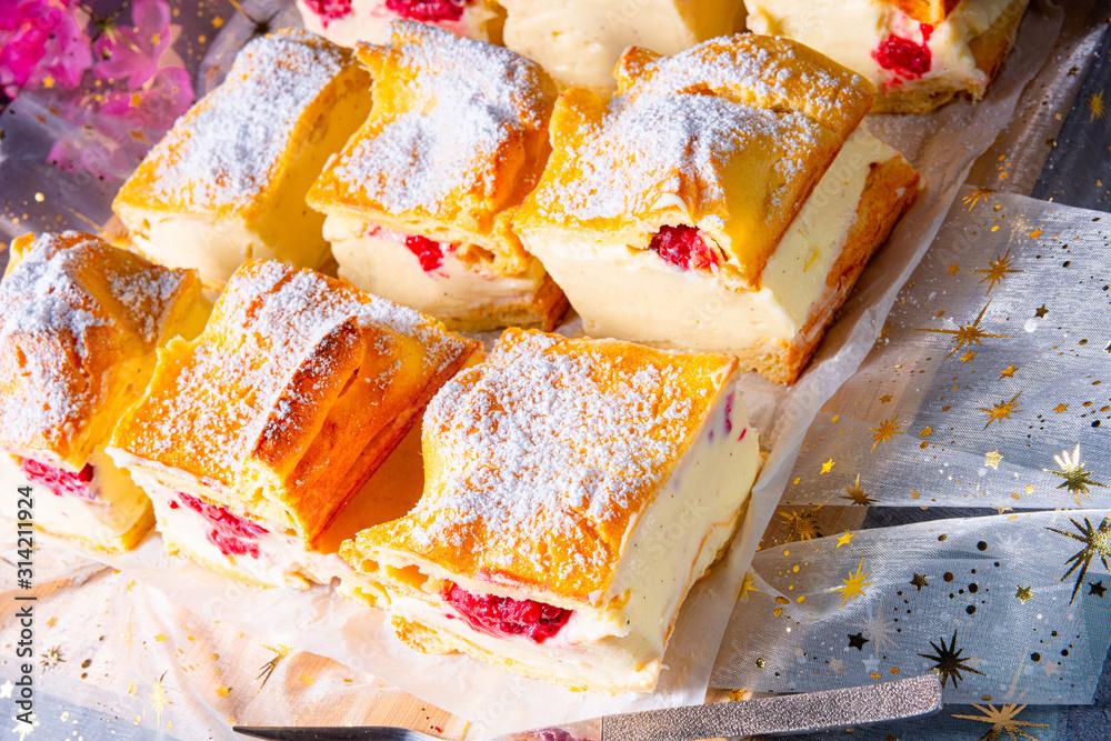 Fototapeta Karpatka - a delicious Polish pudding cake