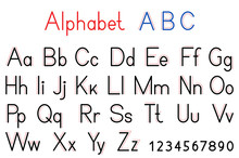 English Alphabet Letters And N...