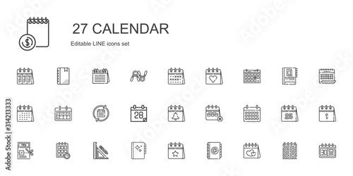 Cuadros en Lienzo calendar icons set