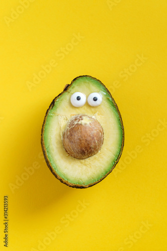 Photo funny avocado