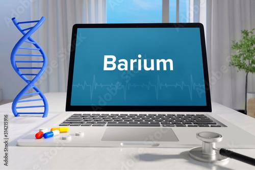 Barium – Medicine/health Canvas Print