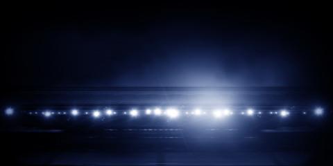 Sport stadium in lights . Mixed media