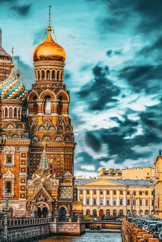Gribobedov's Canal. Cathedral of the Savior on Spilled Blood. Saint Petersburg. Russia. Fototapete