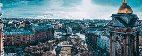 Panoramic view from the roof of St Wallpaper Mural