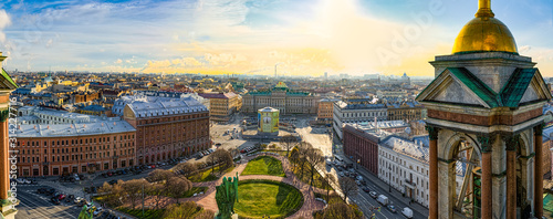 Panoramic view from the roof of St Canvas Print